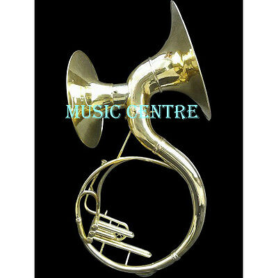 Sousaphone Double Bell Both Bell Fully Functional 22 Inches Brass Polish Wcase