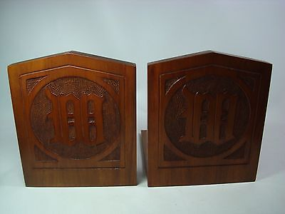 Arts and Crafts Hand Dovetailed and Tooled Cherry BOOKENDS