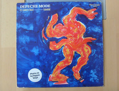 """DEPECHE MODE it's called a heart 12"""" 2 track extended version blue vinyl b/w fly"""