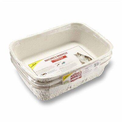New Natures Miracle Disposable Cat Litter Box 3 Pack