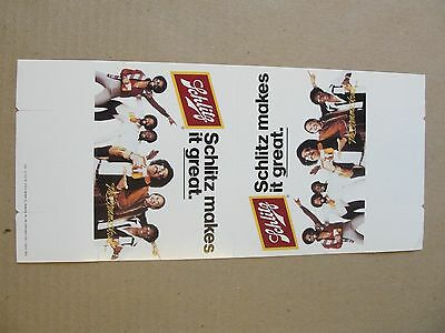 1979 Schlitz Beer Table Display Folder, Commodores and Lionel Richie