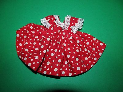 1950's Cosmopolitan Ginger Tagged RED & White DRESS Crisp Mint Unused!