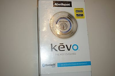 New! Kwikset Kevo The Key Evolved Bluetooth Enabled Deadbolt Satin Nickle