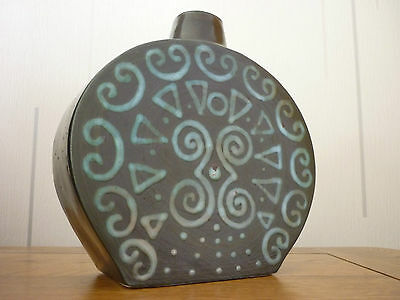 Superb Very Rare Troika Flask Vase - Very Early Impressed Mark