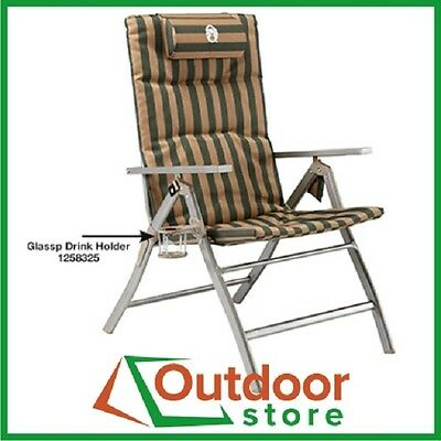 Coleman 5 Position Padded Steel Arm Camp Picnic Outdoor Folding Chair