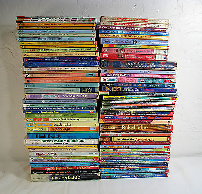 LOT OF 80+ CHILDRENS CHAPTER BOOKS READING LEVEL 3rd- 6th class library TEACHERS