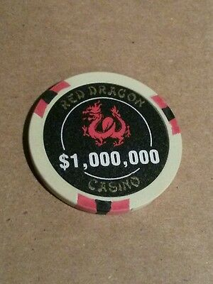 Red Dragon Casino $1,000,000 Casino Chip Las Vegas Rush Hour 2-Stocking Stuffer