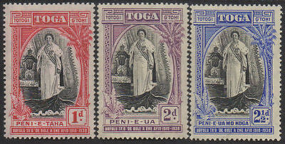Tonga 1938 SG71 Queen Salote's Accession set MNH