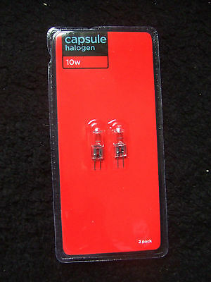 16 x 10w CAPSULE HALOGEN LIGHT BULBS. NEW IN PACKS