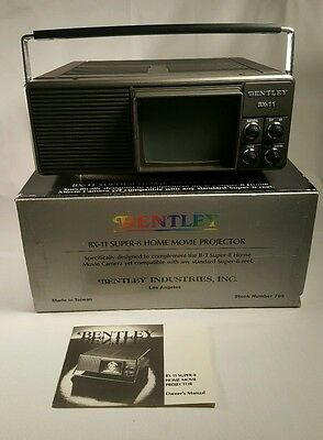 Bentley BX-11 Super 8 Home Movie Projector GREAT CONDITION