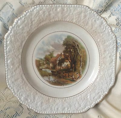 "VINTAGE BCM LORD NELSON WARE JOHN CONSTABLE ""VALLEY FARM"" PLATE Made England"