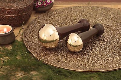 BRONZE/KANSA INDIAN BODY MASSAGER FOR HEALTH BENEFITS Detoxification SIZE-BIG