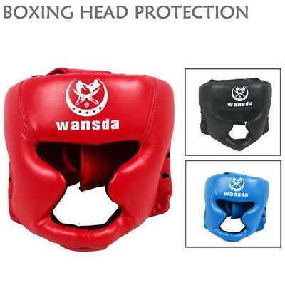 NEW MMA UFC Boxing Head Protection Helmet Ear Kick Headgear Training Protective