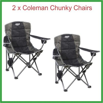 2 x Coleman Chunky Quad Chairs - FREE to Melb, Syd, & Adel