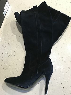 Women's Diavolina Uri Boot Black Suede  - Size 7 (Worn Once)
