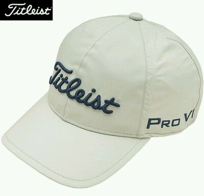 Titleist Japan Rain Cap Hat HJ5CPR Gray, NWT, Adjustable