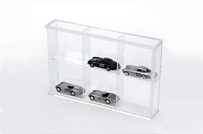 Small display case Acrylic Glass 6 Compartments 180 x 115 x 30 mm SAFE