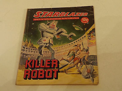 Starblazer Picture Library,no 06,1979 Issue,good For Age,very Rare Sci-Fi Comic.