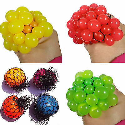 SP Funny Anti Stress Face Reliever Grape Ball Autism Mood Squeeze Relief  Toy