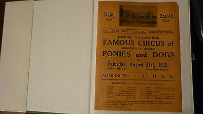 original circus poster raby castle 1935 leon volpres famous circus of dogs,ponie