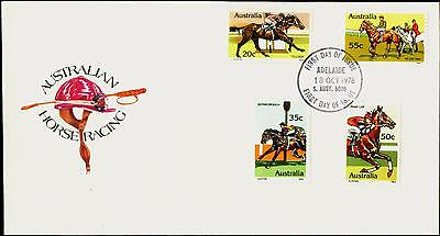 Australia FDC First Day Cover - 1978 Australian Horse Racing