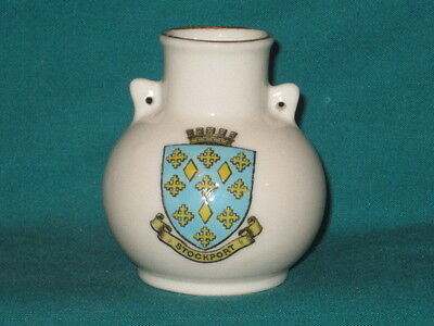 Goss China Southport Vase - STOCKPORT crest