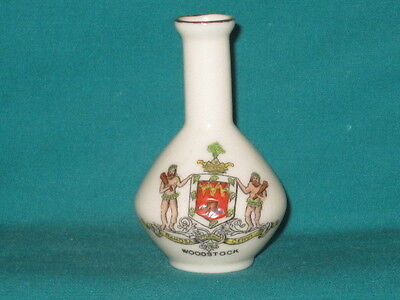 Arcadian China Vase - WOODSTOCK crest