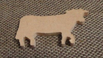 WOODEN SHAPES  - 1 COW 6cms x 4cms