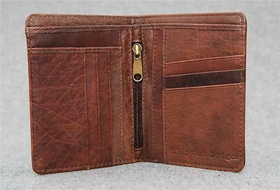 Billy Goat Designs Leather Bifold Wallet ACB men credit card cash Zip