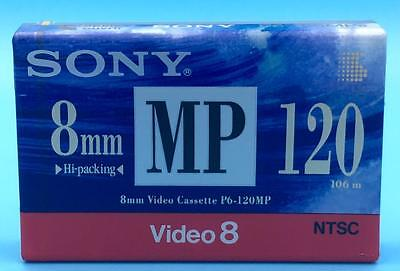 Sony 8mm MP Video Cassette P6-120MPb Camcorder 120 Minute Tape Video 8 Metal