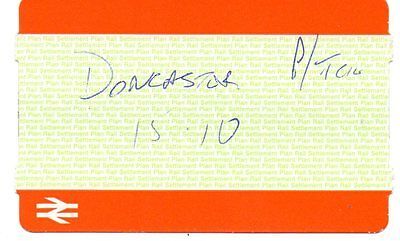 Railway Platform Ticket. 2011 By Hand. Doncaster