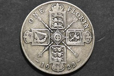 1922 King George V Silver Coin One Florin.