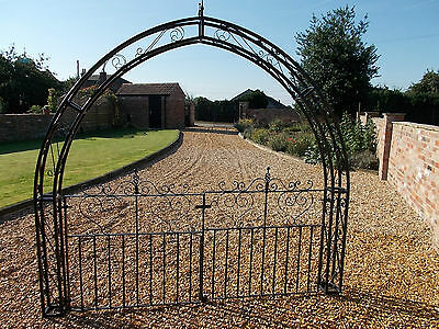 Beautiful Decorative garden Arch with matching gates