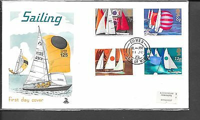 1975 Sailing Fdc Mercury Cover Cowes Cds Label Address Cat £110
