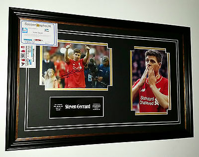 *** Rare STEVEN GERRARD of Liverpool Signed Photo Picture Display *** FAREWELL
