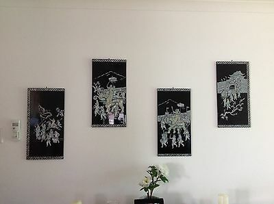 veitnamese wall art made from mother of pearl oyster shell