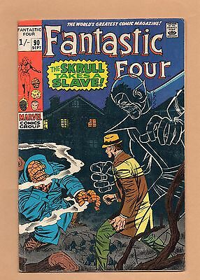 "Fantastic Four, Vol. 1 #90 (1969)  - Good / Very Good - ""Skrull Takes A Slave"""