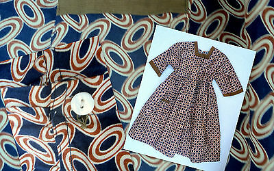 Girls Dress Vintage Antique Early 1900's Excellent Condition Age 6 - 8 yrs Brown
