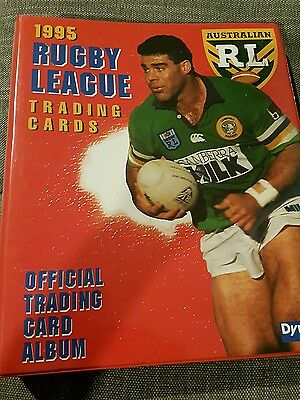 1995 Dynamic Rugby League Folder  NRL - Series 1 and 2