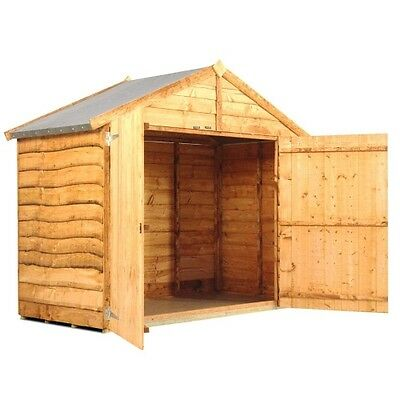 Wooden Bike Store Shed Storage Garden Waney Apex 3x6 Feet INCLUDES FLOOR New