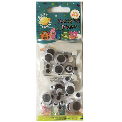 STICKY BACK GOOGLY EYES - Various Sizes  Oval (1636PCS) cpt6671108