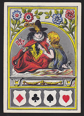 1 Single Antique Playing Swap Card Old Wide Square Corner Prince & Pauper White