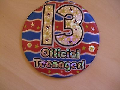 Large 13 Official Teenager badge