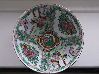 Oriental Chinese Bowl - Flowers & Local People