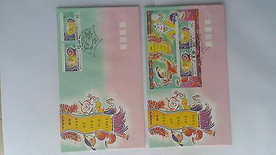 Christmas Island -  2 FDCs - 1995  -  year of the Pig