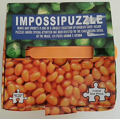 Double Sided Impossipuzzle / Brussels And Beans - 550 Pce Jigsaw - Bag Sealed