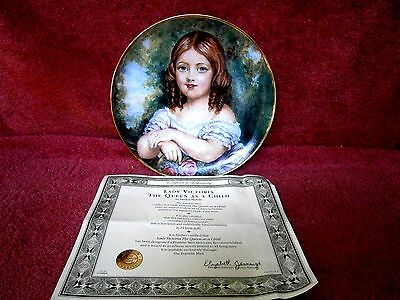 Lady  Victoria    Franklin Mint Limited Edition Collector's Plate