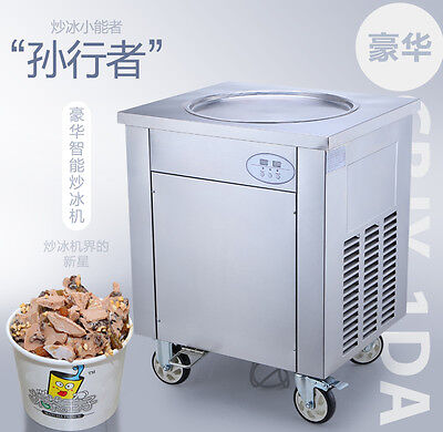220V 900W 45cm Commercial Fried Ice Cream Machine, Ice Crean Roll Making Machine