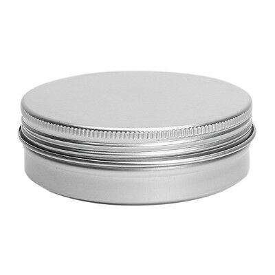 5 x Empty Cosmetics Pot Lip Balm Tin Jar Container screw 100ml BF