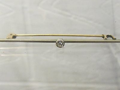 Victorian Brooch Pin / Bar Brooch Unknown Material Un Marked  Gold Pin